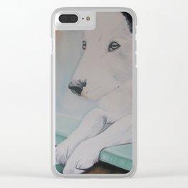 Rainbow dog Clear iPhone Case