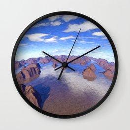 Round World of Islands Wall Clock
