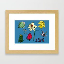 Buds and Blooms Identification Print Framed Art Print