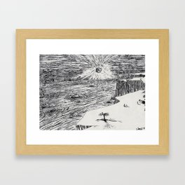 Epic Cliff Scene Framed Art Print