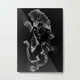 Black Panthera Metal Print