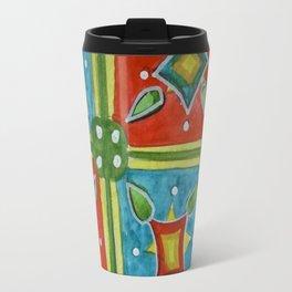 Watercolor Abstract Floral Art - Tile 5474 Travel Mug