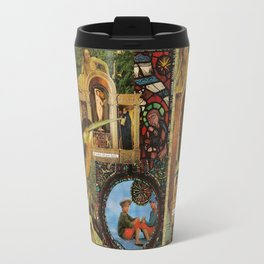 She walked with great dignity, collage.  Travel Mug
