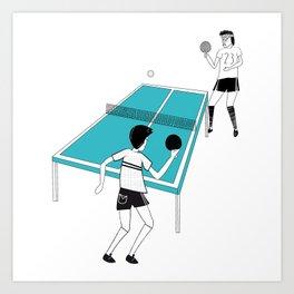 Ping Pong Game Art Print