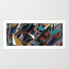 Silence & Chaos Panoramic Art Print