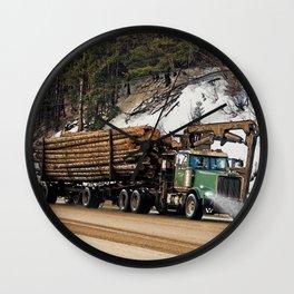 I Log In - I Log Out Wall Clock