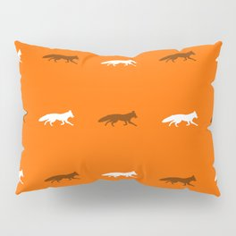 Orange Foxes! Pillow Sham
