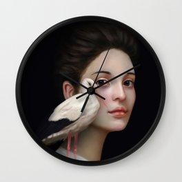 Miss Stork Wall Clock