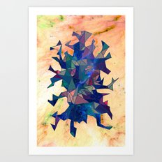 Space Triangles Art Print