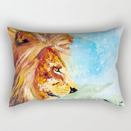 The Lion and the Rat - Animal - by LiliFlore Rectangular Pillow