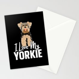 I Love My Yorkie Yorkshire Terrier Dog Lover Puppy Stationery Cards