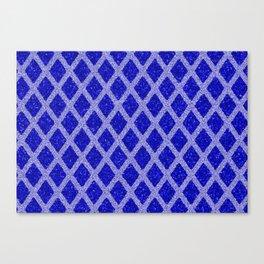blue rhombus Canvas Print
