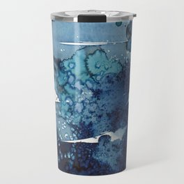 It's a windy day on the beach today. Travel Mug