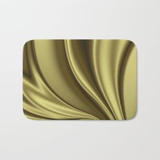 Abstract Fractal Colorways 02 Simple Gold Bath Mat