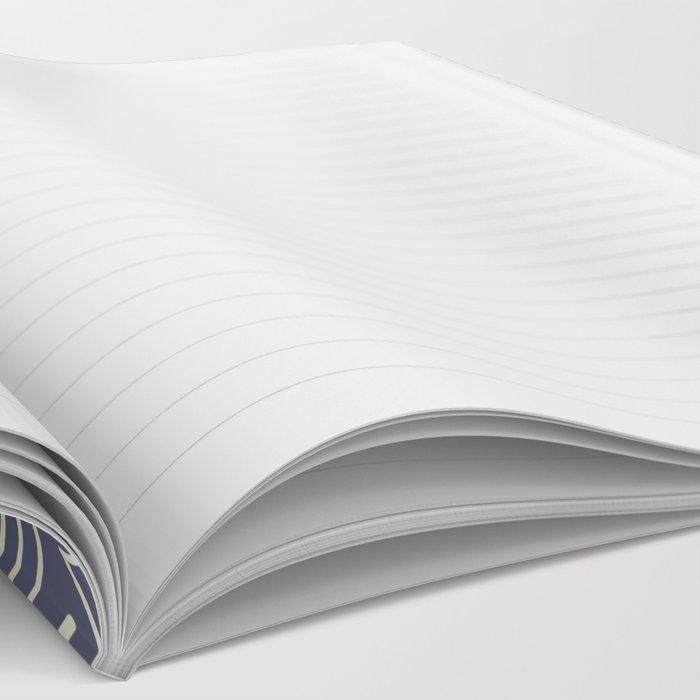 Blue Scribbles Pattern 03 Notebook