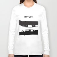 top gun Long Sleeve T-shirts featuring Top Gun Communicating  by NotThatMikeMyers