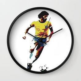 Socrates, Brazilian soccer superman Wall Clock