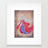 kitsune Framed Art Prints featuring Kitsune by marquisdusoleil