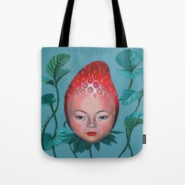 Strawberry head Tote Bag