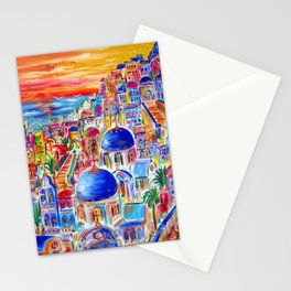 COLOURFUL SANTORINI FANTASY Stationery Cards