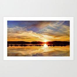 Hudson Sunset  Art Print
