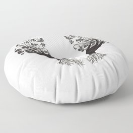 Violet Offering - cream Floor Pillow