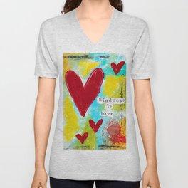 KINDNESS IS LOVE Unisex V-Neck