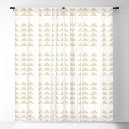 Tribal Triangles in Tan Blackout Curtain