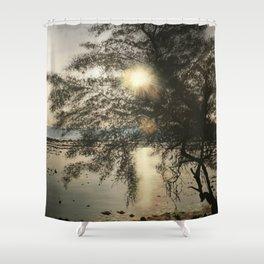 Sunset on GT Shower Curtain