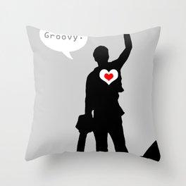 "Bruce Campbell Evil Dead ""Groovy"" Throw Pillow"