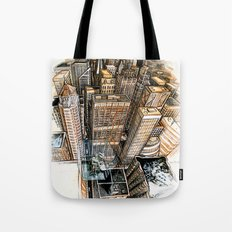 A cube with a view Tote Bag