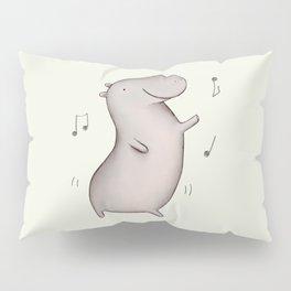 Dancing Hippo Pillow Sham