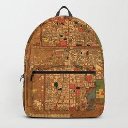 Map Of Peking 1914 Backpack