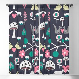 Romantic little animals Blackout Curtain