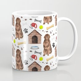 Newfoundland Half Drop Repeat Pattern Coffee Mug