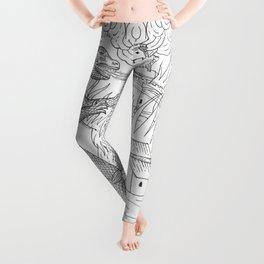 Medieval Gojira Leggings