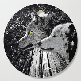 WOLF OF THE NIGHT FOREST Cutting Board