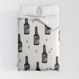 There's always hope beer bottle hop love monochrome Comforters