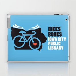 Bikes Books Iowa City Public Library Laptop & iPad Skin
