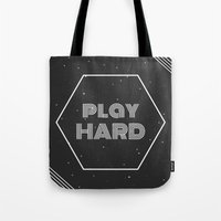 die hard Tote Bags featuring Play Hard by eARTh
