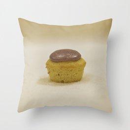 Lemon Lavender Cupcake Throw Pillow