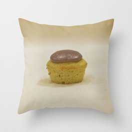 Lemon Lavender Cupcake Throw Pillow