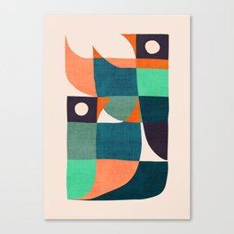 Two birds dancing Canvas Print