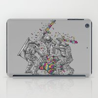 police iPad Cases featuring Police Brutality by Peter Kramar
