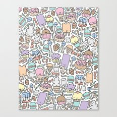 Kawaii Sweet Treats Canvas Print
