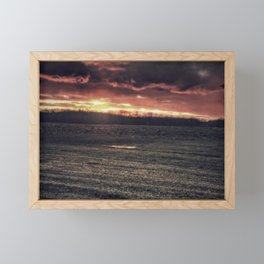 Apocalyptic Ohio sunset Framed Mini Art Print
