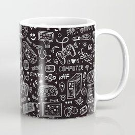 Video Games Pattern | Gaming Console Computer Play Coffee Mug