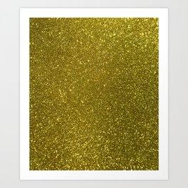 Classic Bright Sparkly Gold Glitter Art Print