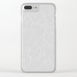 wild hearts grey and white Clear iPhone Case