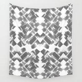 Grey Basket weave Wall Tapestry